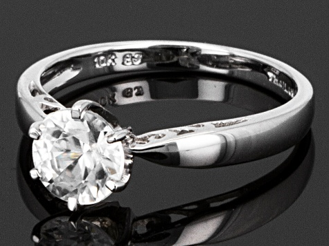 White Zircon 10k White Gold Ring 1.56ct.