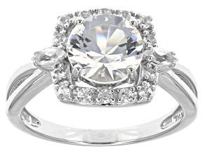 White Danburite 10k White Gold Ring 2.12ctw.