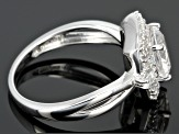White Danburite 10k White Gold Ring 2.12ctw.