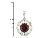 Purple Rhodolite Sterling Silver Pendant With Chain 1.33ctw