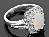 Ethiopian Opal Sterling Silver Ring 1.07ctw