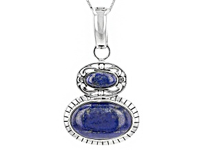 Blue Lapis Sterling Silver Enhancer With Chain