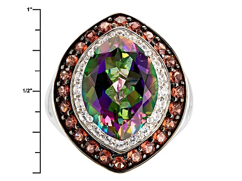 Green Mystic Topaz® Sterling Silver Ring 6.80ctw
