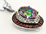 Green Mystic Topaz® Sterling Silver Pendant With Chain 6.81ctw