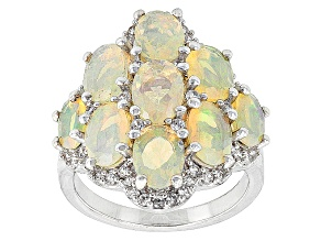 Ethiopian Opal Sterling Silver Ring 4.01ctw