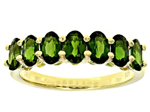 Green Chrome Diopside Sterling Silver Band Ring 1.43ctw