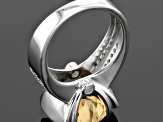 Brown Champagne Quartz Sterling Silver Ring 6.04ctw
