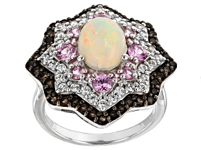 Ethiopian Opal Sterling Silver Ring 2.88ctw