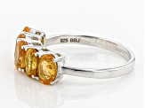 Orange Spessartite Garnet Sterling Silver 5-Stone Ring 2.10ctw