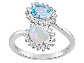 Ethiopian Opal Silver Ring 1.05ctw
