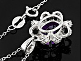 Purple Amethyst Sterling Silver Pendant With Chain 2.16ctw