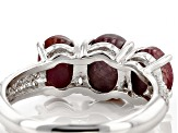 Red indian Star Ruby Sterling Silver Ring 4.00ctw