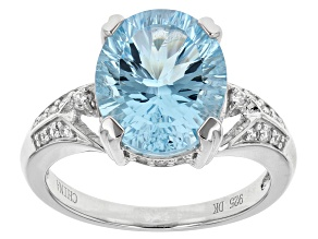 Sky Blue Topaz Sterling Silver Ring 5.95ctw