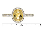 Yellow Beryl 18k Yellow Gold Over Sterling Silver Ring 1.02ctw