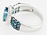 London Blue Topaz Sterling Silver Ring 2.67ctw
