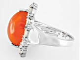 Orange Carnelian Sterling Silver Ring 1.25ctw