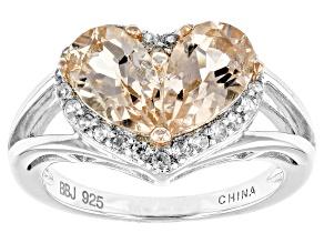 Pink Morganite Sterling Silver Ring. 1.65ctw