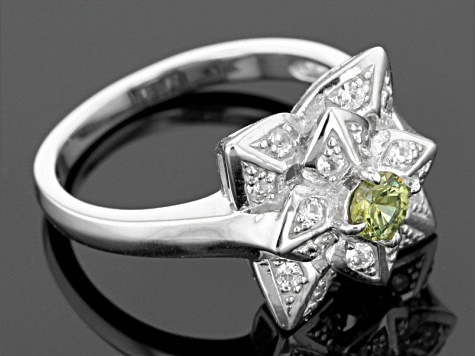 Green Demanoid Sterling Silver .71ctw