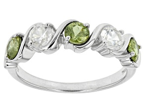Green Demanoid Sterling Silver Ring 1.45ctw