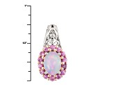 Ethiopian Opal Sterling Silver Pendant With Chain. 1.48ctw