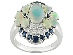 Ethiopian Opal Sterling Silver Ring 2.37ctw