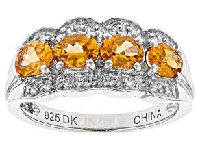 Orange Spessartite Sterling Silver Ring 1.63ctw