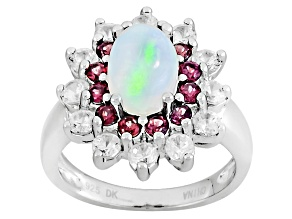 Ethiopian Opal Sterling Silver Ring 2.54ctw