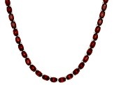Red Garnet Sterling Silver Tennis Necklace 35.52ctw