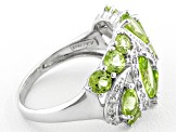 Manchurian Peridot ™ 3.28ctw With .17ctw White Topaz Sterling Silver Ring