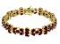 Red ruby sterling silver bracelet 26.99ctw