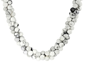 White howlite sterling silver necklace