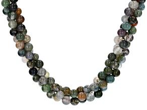 Multi-color jasper sterling silver necklace