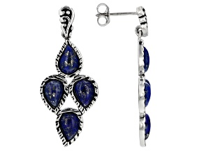 Blue lapis lazuli sterling silver earrings