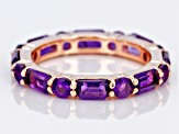 Purple amethyst 18k rose gold over silver ring 2.96ctw