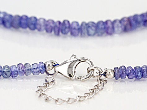 Blue tanzanite sterling silver necklace