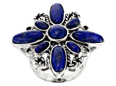 Blue lapis lazuli sterling silver ring