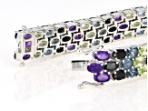 Purple amethyst rhodium over silver bracelet 22.29ctw