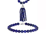 Blue lapis lazuli sterling silver jewelry set