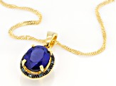 Blue Kyanite 18k Yellow Gold Over Sterling Silver Pendant With Chain 2.74ctw