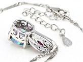 Multi-color Mystic Topaz(R) Rhodium Over Silver Pendant with Chain 4.91ctw