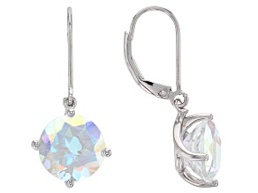 Multicolor Mercury Mist(R) topaz rhodium over silver earrings 8.50ctw