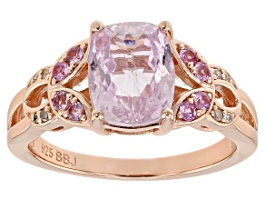 Pink Kunzite 18k Rose Gold Over Silver Ring 2.65ctw