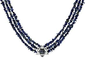 Blue Lapis Lazuli Sterling Silver Necklace