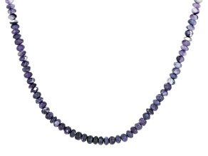Purple Opal Rhodium Over Sterling Silver Necklace