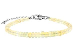 Multicolor opal sterling silver bracelet