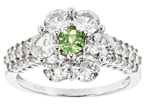 Green Demantoid Garnet Sterling Silver Ring 3.04ctw