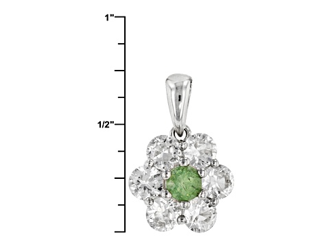 Green Demantoid Garnet Sterling Silver Pendant With Chain 2.69ctw