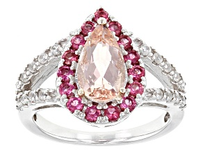 Pink Morganite Sterling Silver Ring 2.10ctw