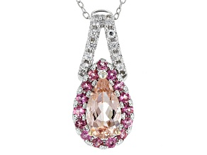 Pink Morganite Sterling Silver Pendant With Chain 1.69ctw