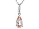 Pink Morganite Sterling Silver Pendant With Chain 1.13ctw
